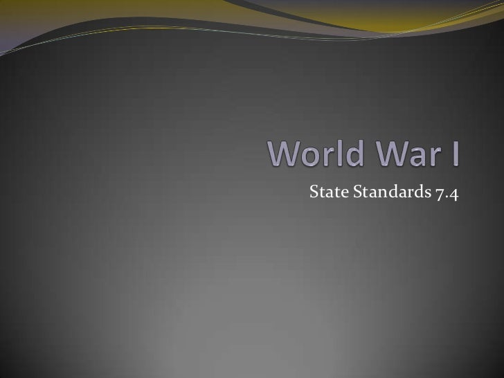 State Standards 7.4