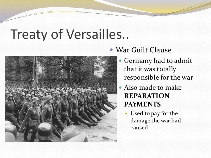 war guilt cause Given how much france had suffered in the war, one would expect that here,   of pensions in the bill, or that he had no problem with the war guilt clause.