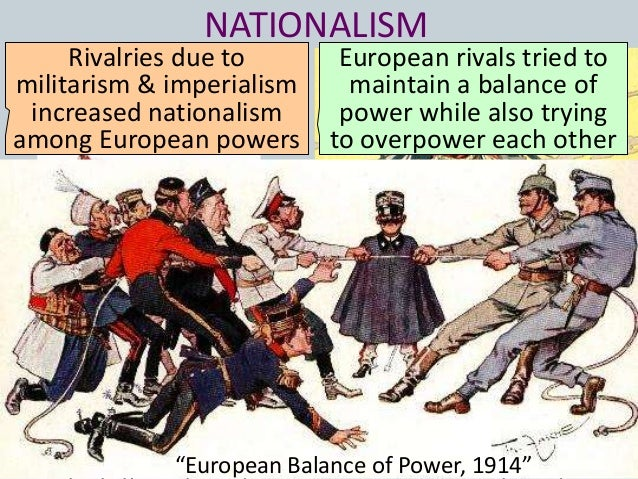 imperialism alliances and war The chief causes of world war i were the european alliances, nationalism, imperialism, and militarism nationalism was the next major long-term cause of wwi.