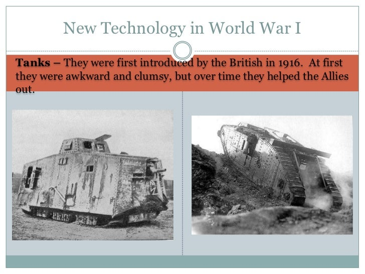 world war i technology World war i was less than one year old when british writer h g wells lamented the fate of humanity at the hands of.