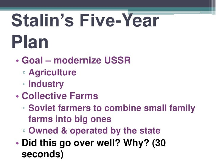 stalin modernising the ussr In this lesson, we explore the brutal rule of joseph stalin in the soviet union,  from 1928 to 1953 stalin radically transformed the economy of the.