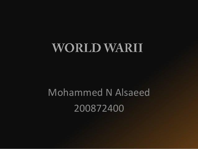 Mohammed N Alsaeed 200872400