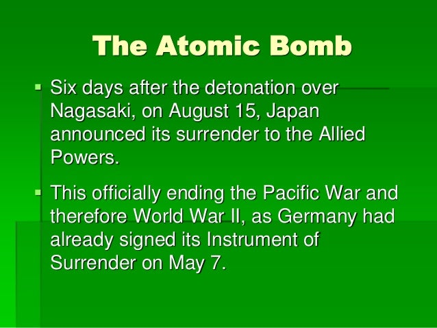 dropping the bomb in hiroshima and nagasaki tipped the scales of world war ii Japan pm shinzo abe expresses 'deep repentance' to us for world war ii in historic congress address hiroshima survivors' artworks to be displayed in uk for first time.
