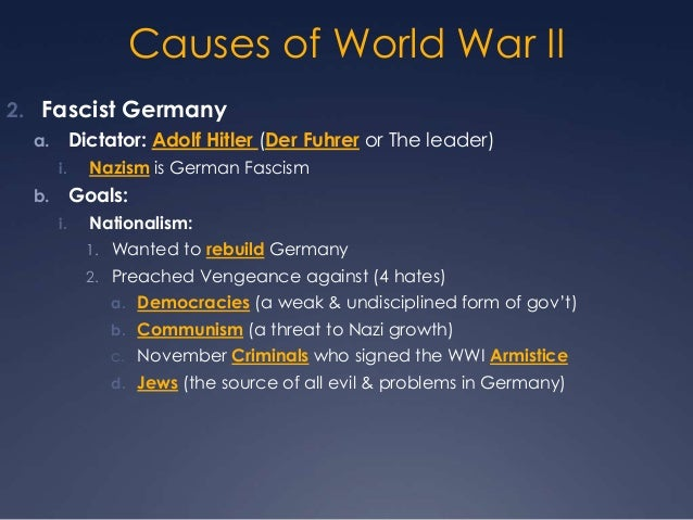 an overview of the causes of world war two Three days later, germany and italy, allied with japan, declared war on the  united states america was now drawn into a global war it had allies in this.