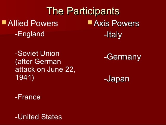 World war ii powerpoint