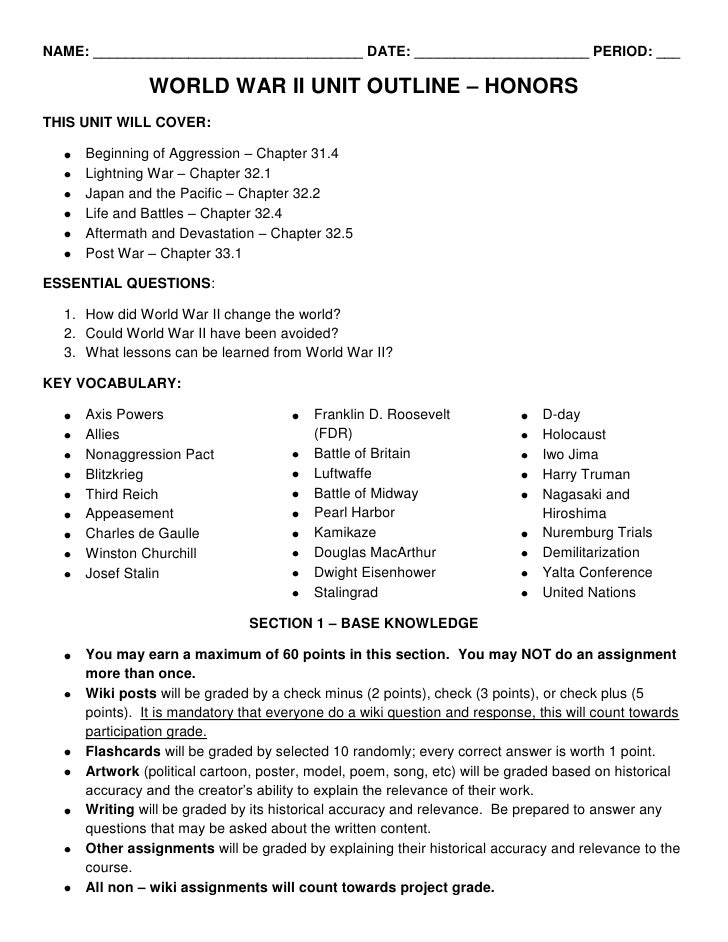 world history world war 2 unit 12 vocabulary essay Use these sample ap us history essays to get ideas for your own ap essays world war i had left a bitter taste in the mouths of many apush sample essays.