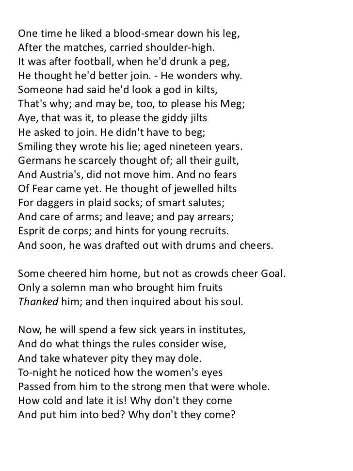 World War I poetry