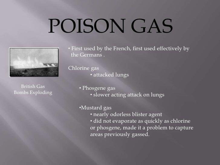 Chlorine gas bombs ww1