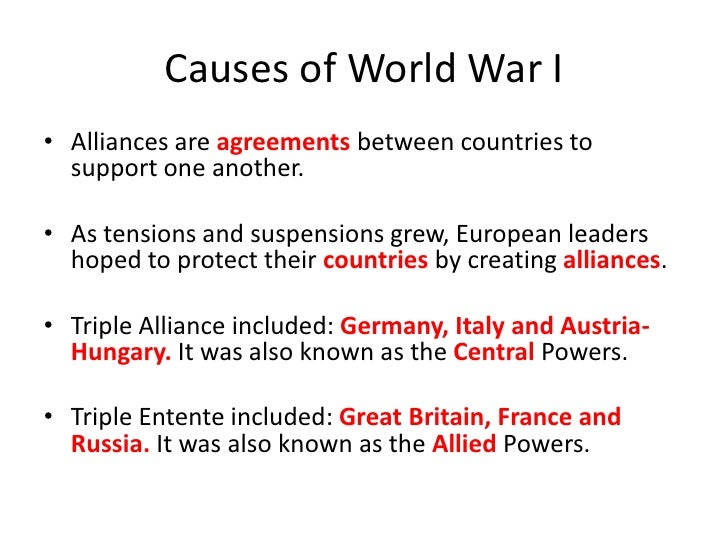the cause of world war i A detailed timeline of the causes of world war one also known as the great war and the first world war including long term, short term, trigger event and declarations of war.