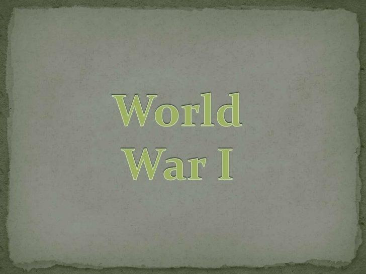 World war one by johnson bautista