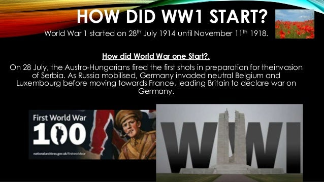World war one presentation