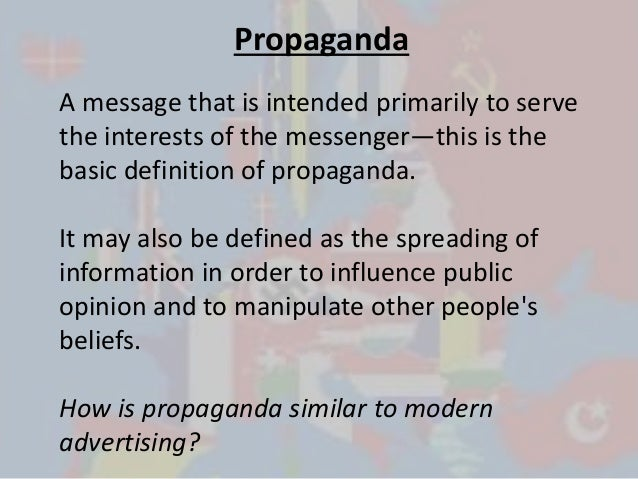 The influences of propaganda and psychological warfare to people