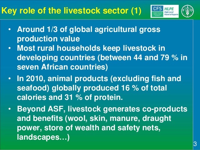Sustainable Agricultural Development for Food Security and Nutrition: What Roles for Livestock? A report by the CFS High Level Panel of Experts on Food Security and Nutrition Slide 3