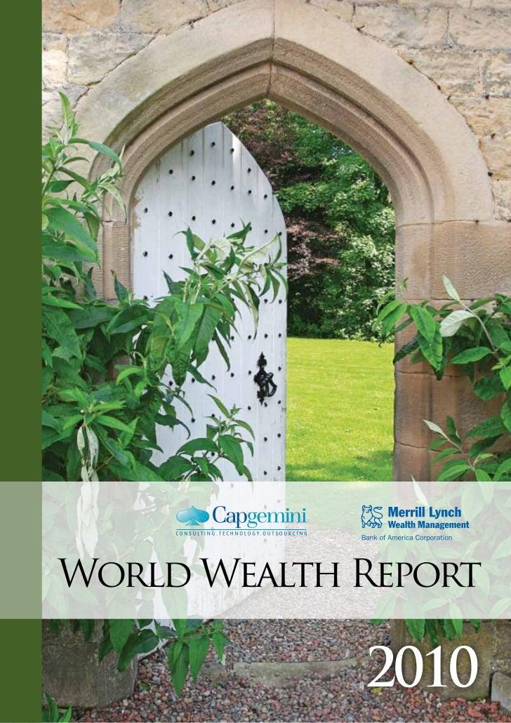 World Wealth Report             2010