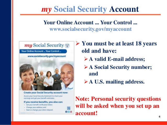 'My Social Security' Get Access to Your Benefits Online