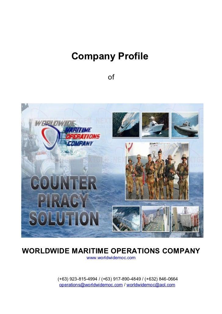 Company Profile                              ofWORLDWIDE MARITIME OPERATIONS COMPANY                    www.worldwidemoc.c...