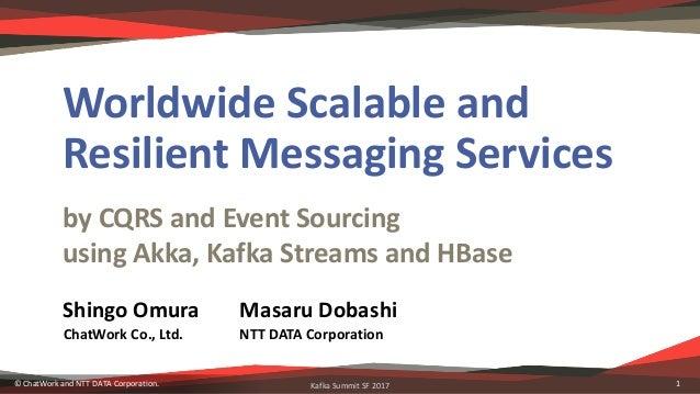 KafkaSummitSF2017 byCQRSandEventSourcing usingAkka,KafkaStreamsandHBase WorldwideScalableand ResilientMess...