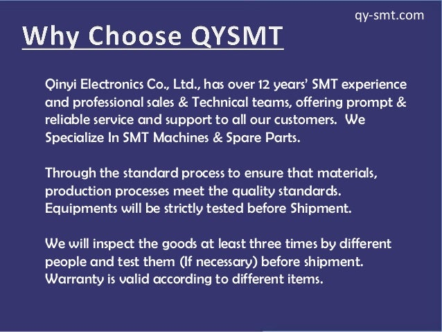 Qinyi Electronics Co., Ltd., has over 12 years' SMT experience and professional sales & Technical teams, offering prompt &...