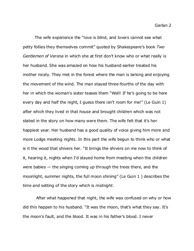 English essay on love is blind