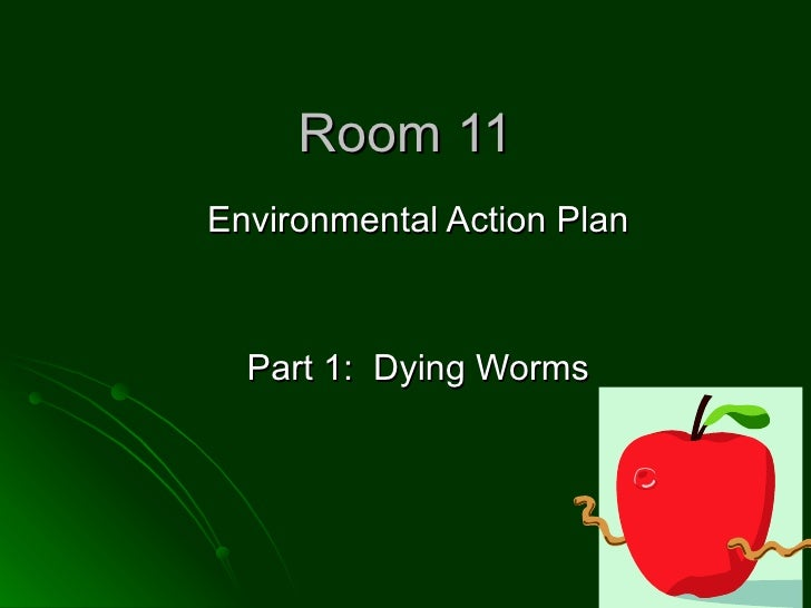Room 11 Environmental Action Plan Part 1:  Dying Worms
