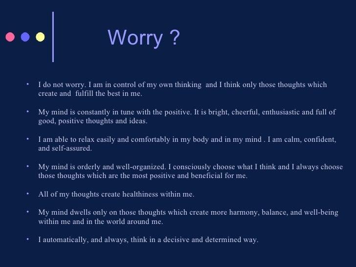 why do i always worry