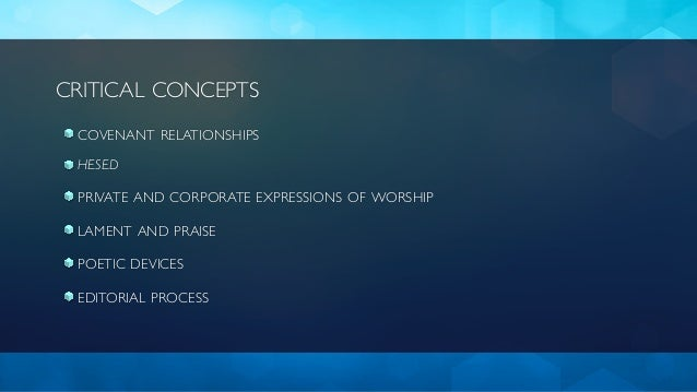 Worship and the Psalms