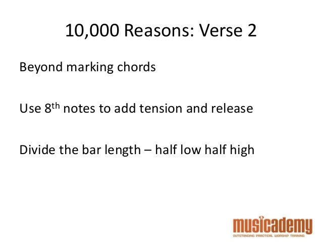 Worship Bass Masterclass 10000 Reasons