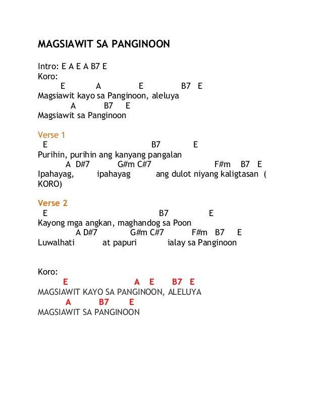 FIAT SERVIAM CHOIR: Magsiawit lyrics