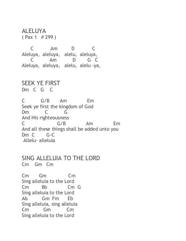 Worship Mass Songs