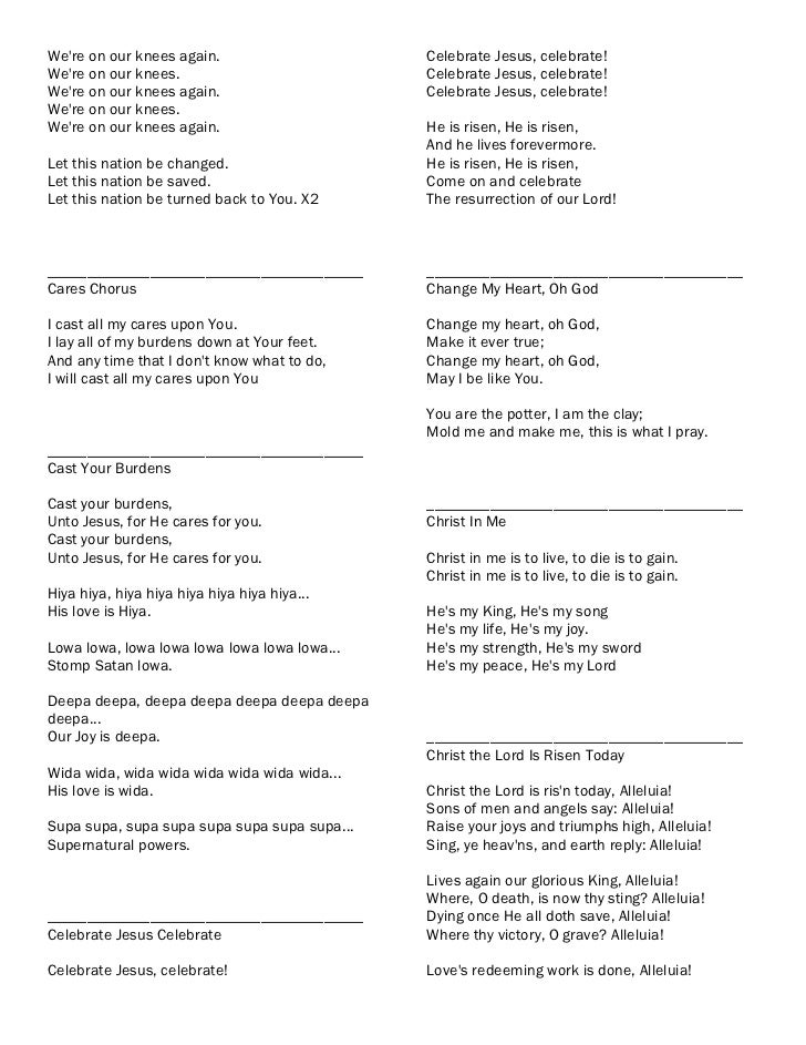 Worship songslyrics