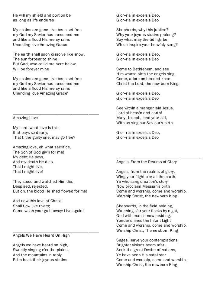 Glory be to our great god lyrics