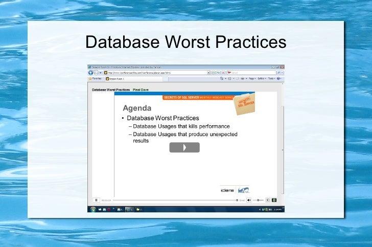 Database Worst Practices