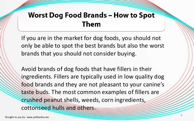 Dog Food Fillers To Avoid