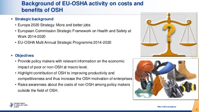 Estimation of the costs of work-related injuries and diseases in five countries Slide 2