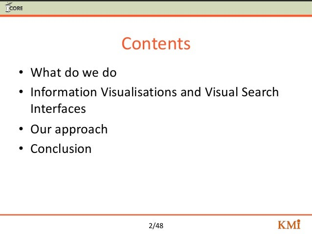 Visual Search for Supporting Content Exploration in Large Document Collections Slide 2