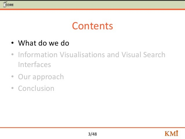 Visual Search for Supporting Content Exploration in Large Document Collections Slide 3