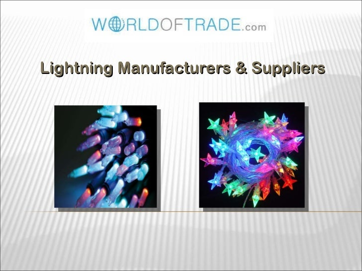 Lightning Manufacturers & Suppliers