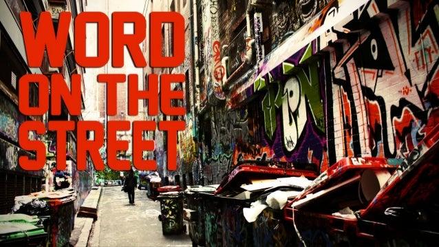 Word on the Street with Jonathan Anastas