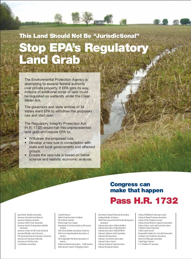 """This Land Should Not Be """"Jurisdictional"""" Stop EPA's Regulatory Land Grab The Environmental Protection Agency is attempting..."""