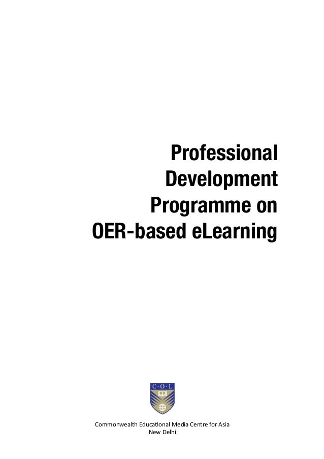 Professional Development Programme on OER-based e-learning