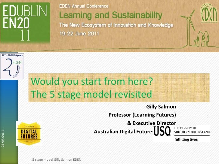 Gilly Salmon<br />Professor (Learning Futures)<br />& Executive Director<br />Australian Digital Futures Institute<br />19...