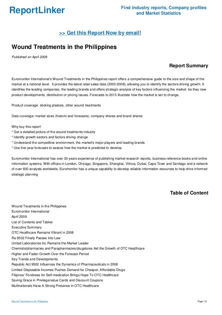 Wound Treatments In The Philippines
