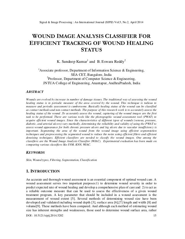 Signal & Image Processing : An International Journal (SIPIJ) Vol.5, No.2, April 2014 DOI : 10.5121/sipij.2014.5202 15 WOUN...