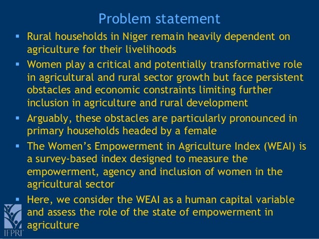 Empowerment And Agricultural Production Evidence From The