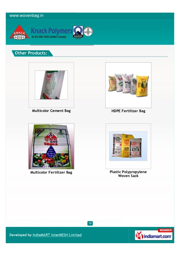 Other Products:       Multicolor Cement Bag        HDPE Fertilizer Bag       Multicolor Fertilizer Bag   Plastic Polypropy...