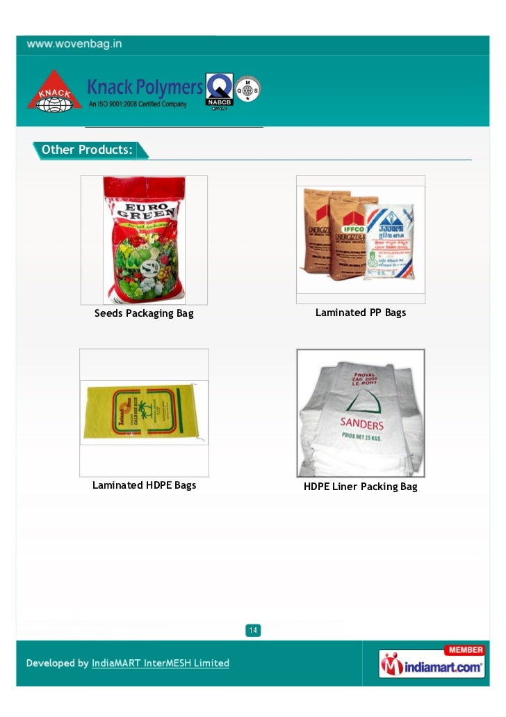 Other Products:        Seeds Packaging Bag     Laminated PP Bags        Laminated HDPE Bags   HDPE Liner Packing Bag