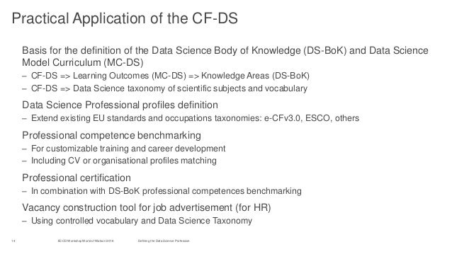 building the data science profession in europe
