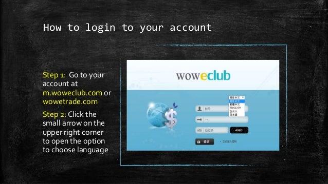 Wowcoin back office training Slide 3