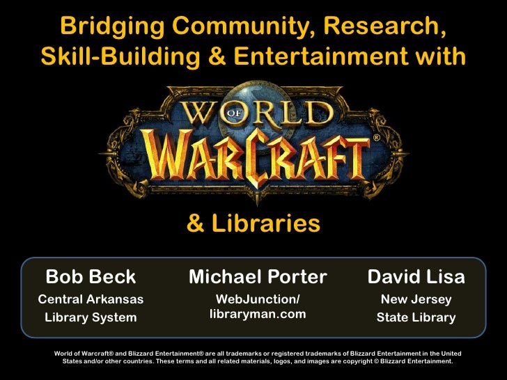 Bridging Community, Research,Skill-Building & Entertainment with                                           & Libraries Bob...