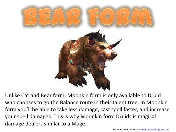 Wo w druid form guide